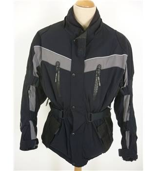 "Crivit Size: M, 40"" chest Black With Grey Panels Design Motorcycle/Racing Textile Nylon  Armoured Jacket"