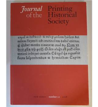 Journal of the Printing Historical Society - Number 12 - 2008