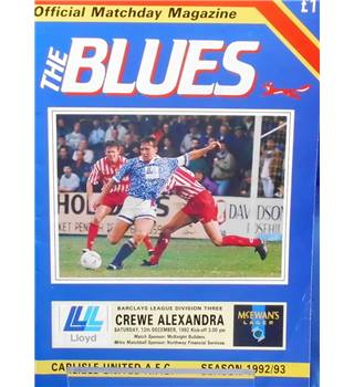 Carlisle United v Crewe Alexandra - Division 3 - 12th December 1992