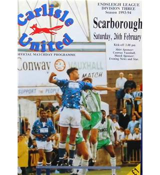 Carlisle United v Scarborough - Division 3 - 26th February 1994