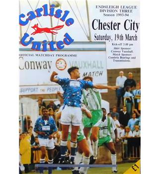 Carlisle United v Chester City - Division 3 - 19th March 1994
