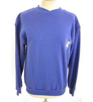 "BNWT Harry Hall Size: M, 40"" Chest Distant Blue Country/Equestrian Polo Neck Long Sleeve Cotton Designer Sweater"