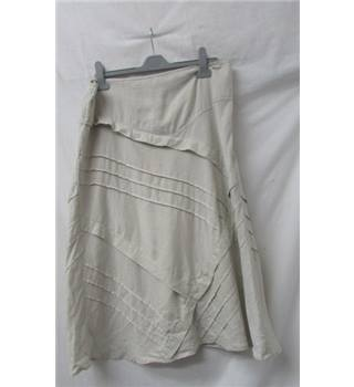 Monsoon - Size: 14 - Beige - Calf length skirt