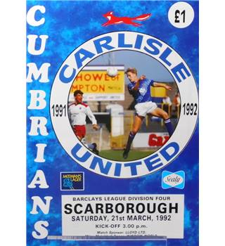 Carlisle United v Scarborough - Division 4 - 21st March 1992