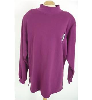 "BNWT Harry Hall Size: XL, 46"" Chest Pink Lavender Country/Equestrian Polo Neck Long Sleeve Cotton Designer Sweater"
