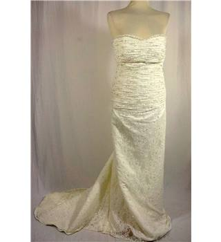 White Wedding Dress by Forever Yours in UK size 8