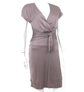 Reiss XS Cocktail Dress With Wrap Detail in Mink
