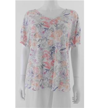 Marks & Spencer Per una Size 12 Multi-Coloured Floral T-Shirt