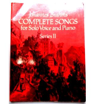 Johannes Brahms Complete Songs for Solo Voice and Piano Series 2