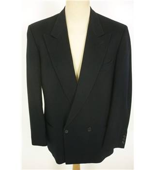 "Harewood Size: M, 38"" chest, tailored fit Black Smart/Stylish Wool Blend With Stretch Double Breasted Jacket."