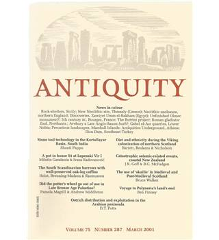 Antiquity Volume 75: Nos. 287-290 March-Dec 2001