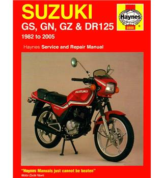 Suzuki GS, GN, GZ & DR125 1982 to 2005 service and repair manual - Haynes 0888