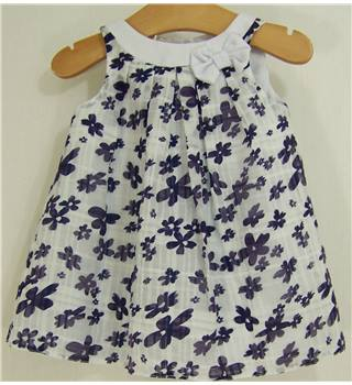 Jasper Conran Junior - Size: 0 - 3 months - White/Purple - Dress