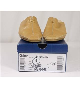Gabor Beige Leather Mules in UK Size: 5