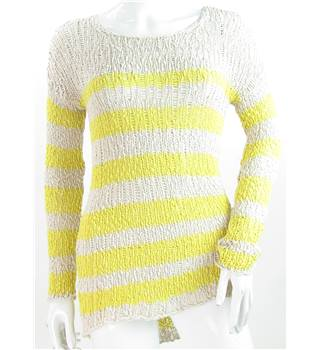 Linea Weekend - Size: 8 - Striped Loose Knit Jumper