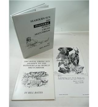 Two Sketch Books Bundle by Bill Bates - Signed Ltd Edition