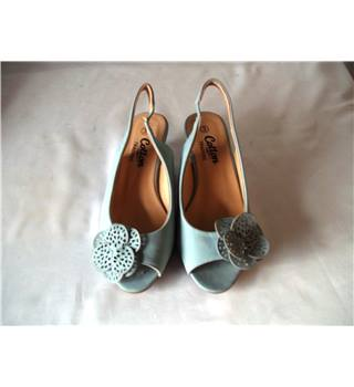 Cotton Traders Size 3 Pale Blue Slingbacks