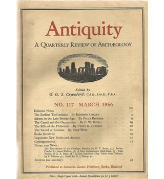 Antiquity Volume XXX: Nos. 117-120 March-Dec 1956