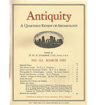 Antiquity Volume XXIX: Nos. 113-116 March-Dec 1955
