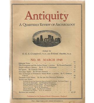 Antiquity Volume XXII: Nos. 85-88 March-Dec 1948