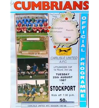 Carlisle United v Stockport County - League Cup 1st Round 2nd Leg - 25th August 1987