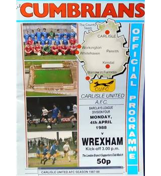 Carlisle United v Wrexham - Division 4 - 4th April 1988