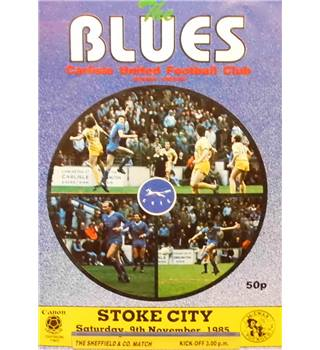 Carlisle United v Stoke City - Division 2 - 9th November 1985