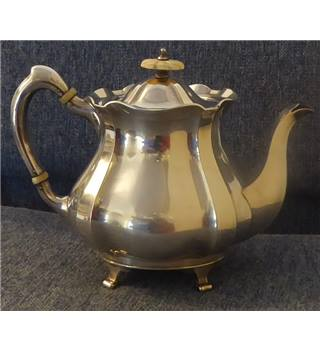 John Round silver-plated teapot