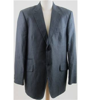 Burberry size: L grey/purple pinstripe jacket