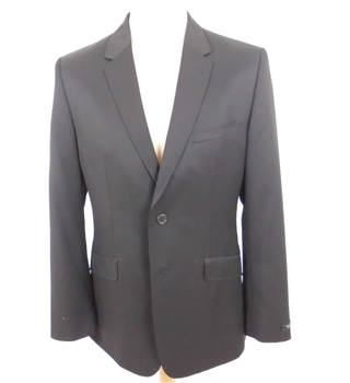 "Ted Baker Size 38"" Chest Black Wool and Mohair Blended  Jacket"