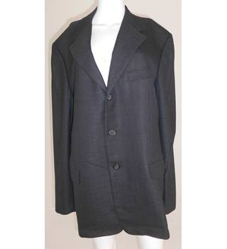 "Gianni Versace Size 44"" Chest Black and Grey Patterned Jacket"