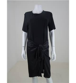 Rihanna for River Island Size 10 Black Tied T-Shirt Dress