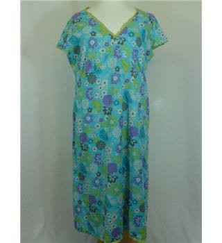 Boden size 18 light blue with floral pattern dress