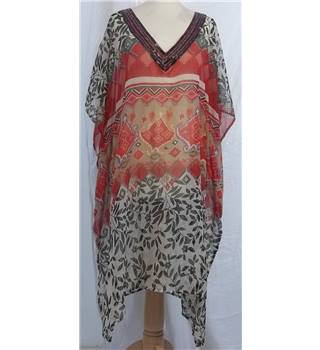 Unbranded-Size S/M-Red Mix-Kaftan.