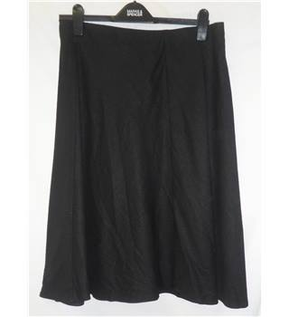 BNWT - M&S Collection - Size: 14 - Black - Knee length linen skirt
