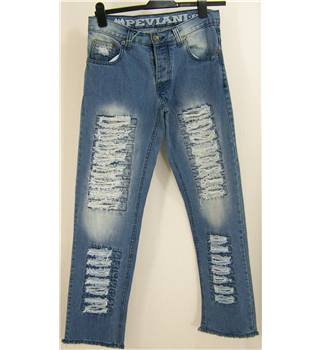 "Peviani - Size: 32"" - Blue - Denim jeans"