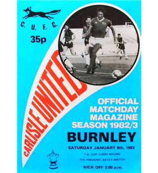 Carlisle United v Burnley - FA Cup 3rd Round - 8th January 1983