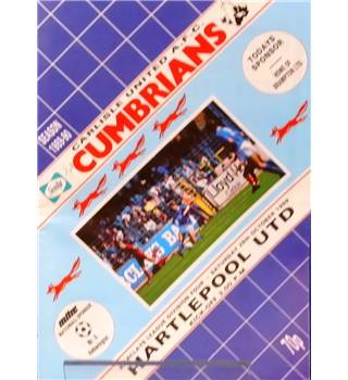 Carlisle United v Hartlepool United - Division 4 - 28th October 1989