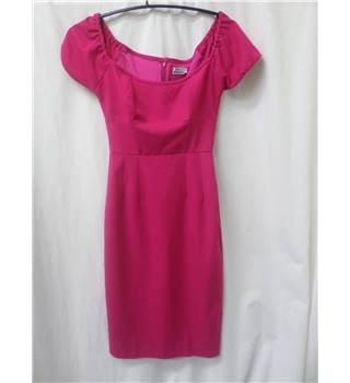 Glamour Bunny - size: S, pink calf length dress