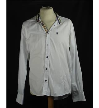 White mens Shirt by S&C in GOOD condition 17""