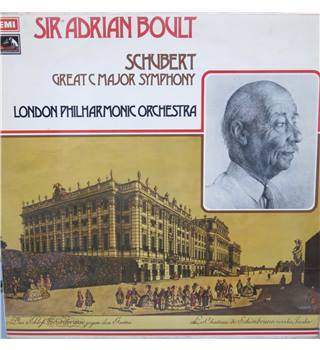 Schubert Great C Major Symphony. London Philharmonic Orch/Sir Adrian Boult. HMV (b/w dog) ASD 2856