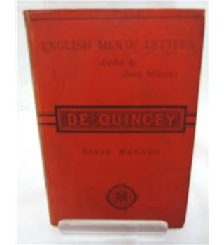 English Men of Letters. De Quincey.