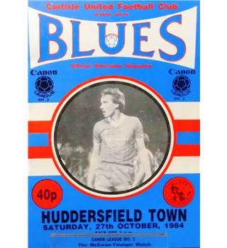 Carlisle United v Huddersfield Town - Division 2 - 27th October 1984