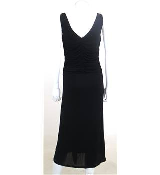 Coast Size 8 Black Ruched Cocktail Dress
