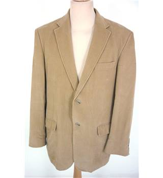 "M & S Size: M, 40"" chest, tailored fit Camel Brown Casual/Stylish Cotton Corduroy Single Breasted Blazer"