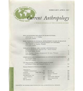 Current Anthropology Vol. 8 Nos. 1&2-5 February/April-December 1967