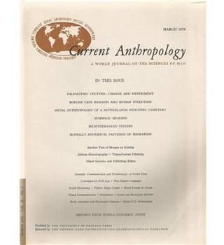 Current Anthropology Vol. 20 Nos 1-4 March-December 1979