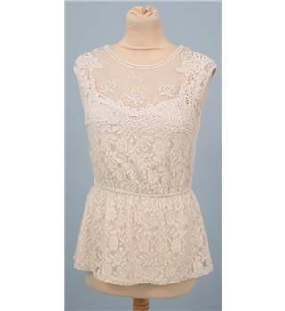 Qed london - Size: S - Cream / ivory - Sleeveless top