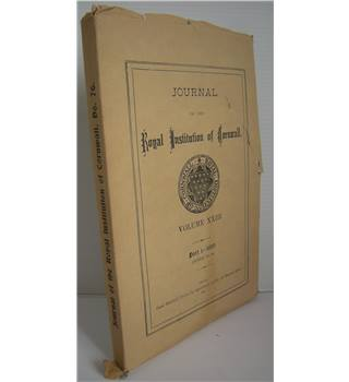 Journal of the Royal Institution of Cornwall; Vol XXIII, Part 1 - 1929