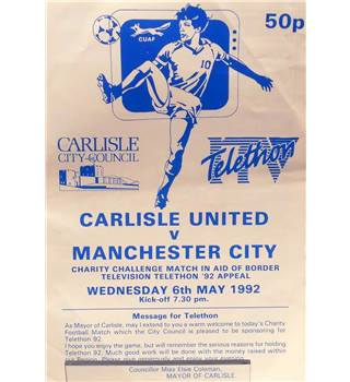 Carlisle United v Manchester City - ITV Telethon Charity Match - 6th May 1992